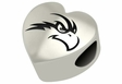 North Florida Ospreys Heart Shape Bead