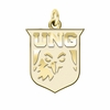 North Georgia Nighthawks 14K Yellow Gold Natural Finish Cut Out Logo Charm