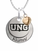 North Georgia Nighthawks Alumni Necklace with Heart Accent