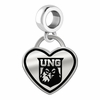 North Georgia Nighthawks Border Heart Dangle Charm