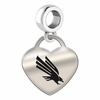 North Texas Engraved Heart Dangle Charm
