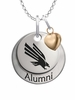 North Texas Mean Green Eagles Alumni Necklace with Heart Accent
