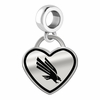 North Texas Mean Green Eagles Border Heart Dangle Charm