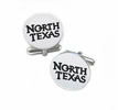 North Texas Mean Green Eagles Cufflinks Stainless Steel Round Top