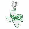 North Texas Mean Green Eagles Logo Dangle Charm