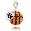 Northeastern Huskies Crystal Drop Charm