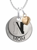 Northeastern Huskies MOM Necklace with Heart Charm