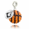 Northern Illinois Crystal Drop Charm