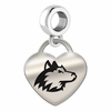 Northern Illinois Engraved Heart Dangle Charm