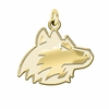 Northern Illinois Huskies 14K Yellow Gold Natural Finish Cut Out Logo Charm