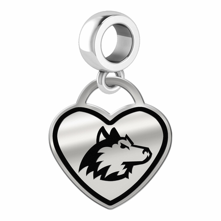 Northern Illinois Huskies Border Heart Dangle Charm