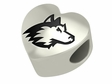 Northern Illinois Huskies Heart Shape Bead