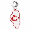 Northern Illinois Huskies Logo Dangle Charm