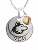 Northern Illinois Huskies MOM Necklace with Heart Charm