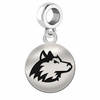 Northern Illinois Round Dangle Charm