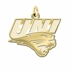 Northern Iowa Panthers 14K Yellow Gold Natural Finish Cut Out Logo Charm