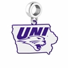 Northern Iowa Panthers Logo Dangle Charm