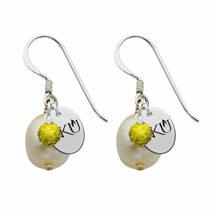 Northern Kentucky Norse Color and Freshwater Pearl Earrings
