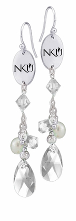 Northern Kentucky Norse Crystal and Pearl Earrings