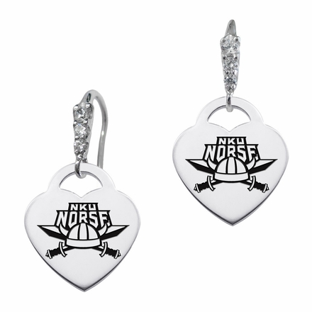 Northern Kentucky Norse CZ Cluster Heart Earrings