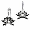 Northern Kentucky Norse CZ Logo Earrings