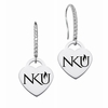 Northern Kentucky Norse Dangle Heart CZ Earring