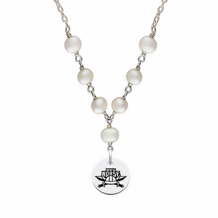 Northern Kentucky Norse Tin Cup Pearl Necklace