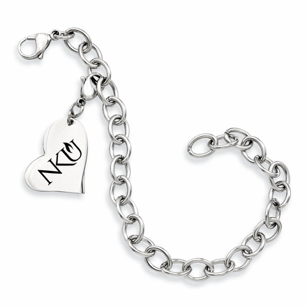 Northern Kentucky Stainless Steel Bracelet Heart Charm