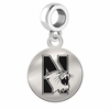 Northwestern Round Dangle Charm