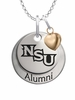 Northwestern State Demons Alumni Necklace with Heart Accent