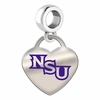 Northwestern State Demons Color Heart Dangle