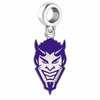 Northwestern State Demons Silver Logo and School Color Drop Charm