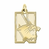 Northwestern Wildcats 14K Yellow Gold Natural Finish Cut Out Logo Charm