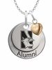 Northwestern Wildcats Alumni Necklace with Heart Accent
