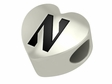 Northwestern Wildcats Heart Shape Bead