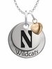 Northwestern Wildcats with Heart Accent