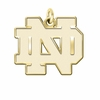 Notre Dame Fighting Irish 14K Yellow Gold Natural Finish Cut Out Logo Charm