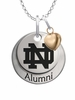 Notre Dame Fighting Irish Alumni Necklace with Heart Accent