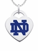 Notre Dame Fighting Irish Color Logo Heart Charm