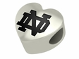 Notre Dame Fighting Irish Heart Shape Bead