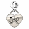 Notre Dame Engraved Heart Dangle Charm