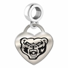 Oakland Engraved Heart Dangle Charm