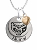 Oakland Golden Grizzlies Alumni Necklace with Heart Accent