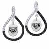 Oakland Golden Grizzlies Black and White Figure 8 Earrings