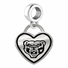 Oakland Golden Grizzlies Border Heart Dangle Charm