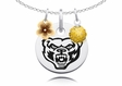Oakland Golden Grizzlies Necklace with Flower Charm