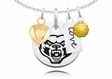 Oakland Golden Grizzlies Necklace With Heart, Color and Love