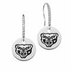 Oakland Golden Grizzlies Round Charm and CZ Earring