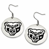 Oakland Golden Grizzlies Satin Finished Disc Earrings