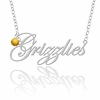 Oakland Golden Grizzlies Script Necklace with Color Crystal Accent
